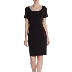 Kay Unger Perfect Black Sheath Party Dress